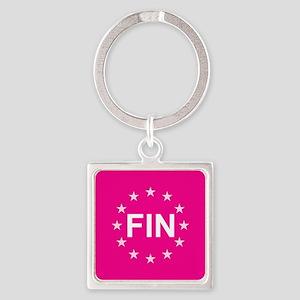 sticker fin pink 10 Keychains