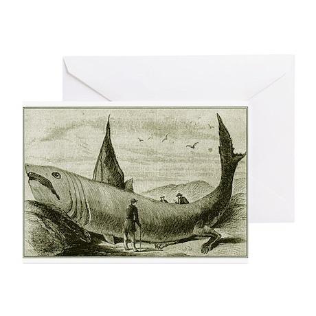 1868 Legged Shark Greeting Cards (Pk of 10)