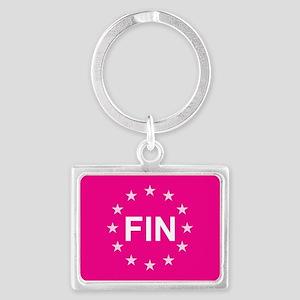sticker fin pink 5 Keychains