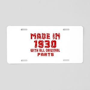 Made In 1930 With All Origi Aluminum License Plate