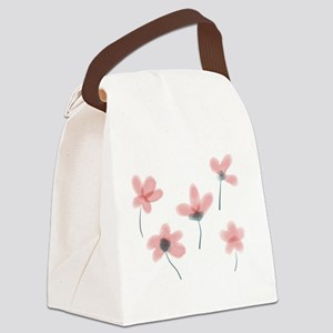 Soft Flower Canvas Lunch Bag