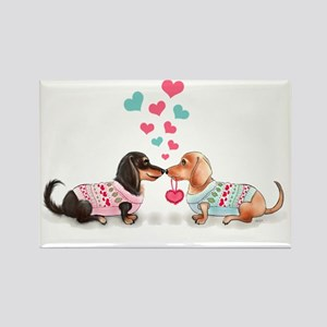 Doxie Valentine Rectangle Magnet