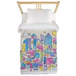 Peace in the City Twin Duvet