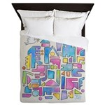 Peace in the City Queen Duvet