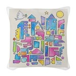 Peace in the City Woven Throw Pillow