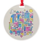 Peace in the City Round Ornament