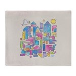 Peace In The City Throw Blanket