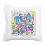 Peace in the City Square Canvas Pillow
