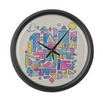 Peace in the City Large Wall Clock