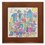 Peace In The City Framed Tile