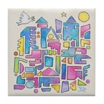 Peace In The City Tile Coaster