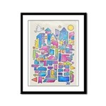 Peace In The City Framed Panel Print