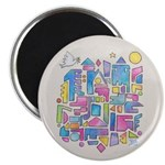 "Peace In The City 2.25"" Magnet (10 Pack) Magn"