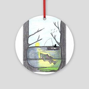The Fisherman Ornament (Round)