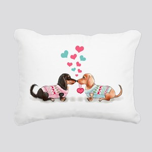 Doxie Valentine Rectangular Canvas Pillow