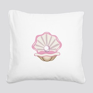 OYSTER WITH PEARL Square Canvas Pillow