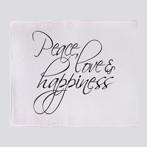 Peace Love Happiness - Throw Blanket