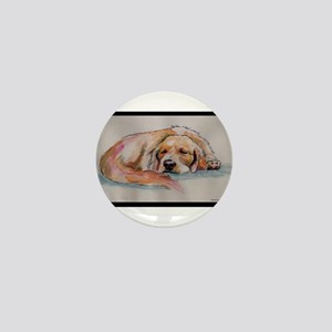 Sleeping Golden Retriever Mini Button