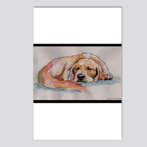 Sleeping Golden Retriever Postcards (Package of 8)