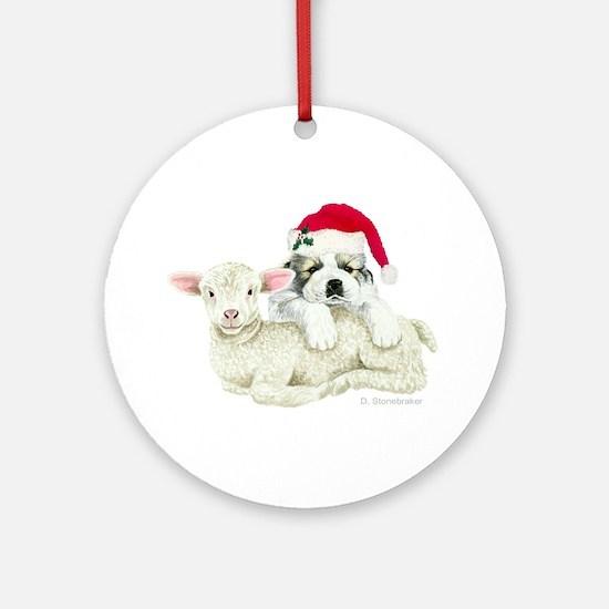 Great Pyrenees Puppy & Lamb Ornament