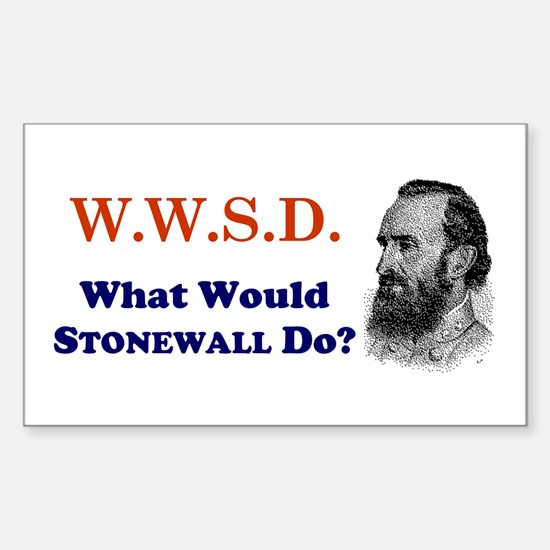 What Would STONEWALL Do Rectangle Decal