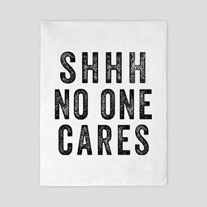 SHHH No One Cares Twin Duvet