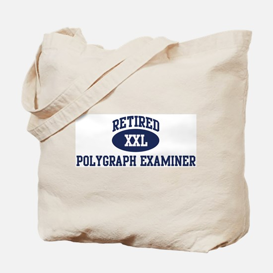 Retired Polygraph Examiner Tote Bag