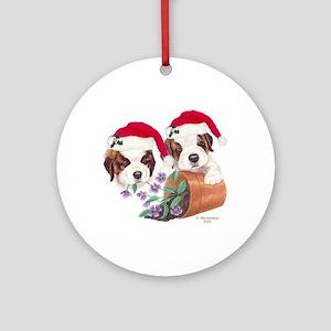 Saint Bernard Puppies Ornament (Round)