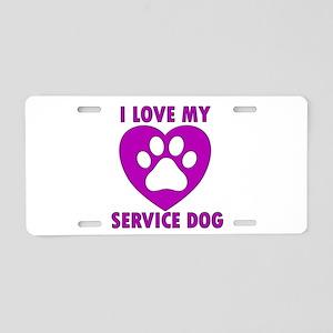 SERVICE DOG Aluminum License Plate