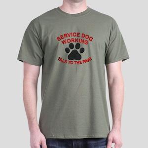 Service Dog Paw T-Shirt