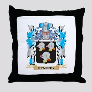 Kennedy Coat of Arms - Family Crest Throw Pillow