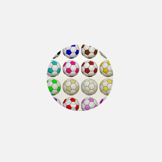 Soccer Balls Mini Button