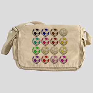 Soccer Balls Messenger Bag