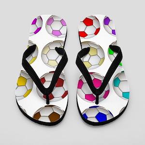Soccer Balls Flip Flops
