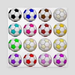 Soccer Balls Queen Duvet