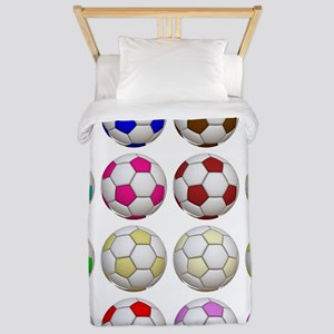 Soccer Balls Twin Duvet