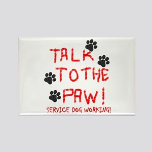 SERVICE DOG PAW Magnets