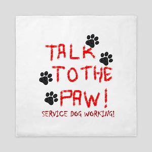 SERVICE DOG PAW Queen Duvet