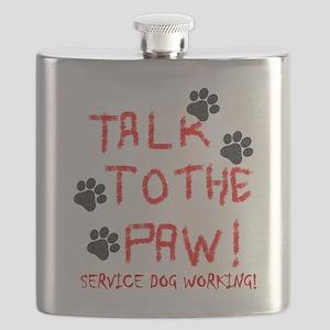 SERVICE DOG PAW Flask
