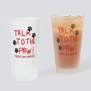 SERVICE DOG PAW Drinking Glass