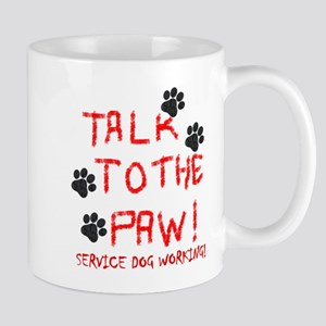 SERVICE DOG PAW Mugs