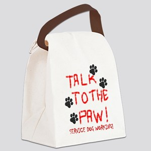 SERVICE DOG PAW Canvas Lunch Bag