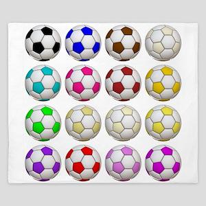 Soccer Balls King Duvet