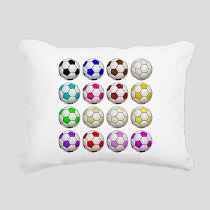 Soccer Balls Rectangular Canvas Pillow