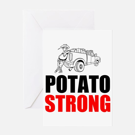 Potato Strong Greeting Cards