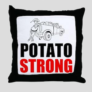 Potato Strong Throw Pillow