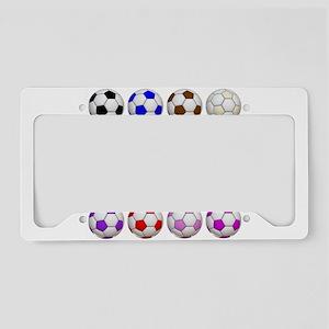 Soccer Balls License Plate Holder