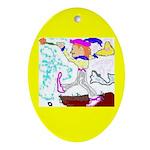 Tarot Fool Oval Ornament