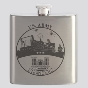 Army Combat Engineer Logo Flask