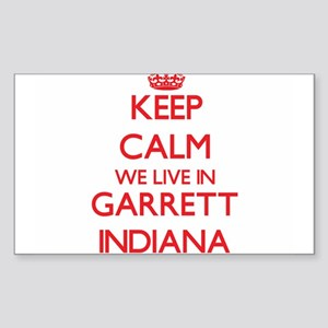 Keep calm we live in Garrett Indiana Sticker